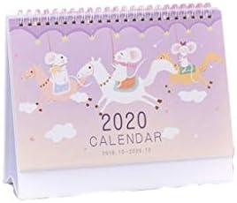 Kalender Desktop-Kalender Wandkalender Kalender von 2019 bis Oktober 2020 bis Dezember Netter Desktop-Kalender, Tagesplan 8,26 Zoll breit Kalender Tischkalender (Color : C)