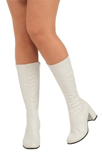Child's White Costume Go Go Boots,
