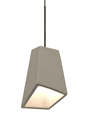 Besa Lighting 1XT-SKIPTN Skip - One Light Pendant with Flat Canopy, Tan Shade