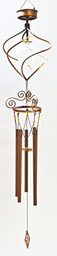 Headwind Consumer Products 830-1317 Solar Wind Chime Color Changing Spiral Spinner