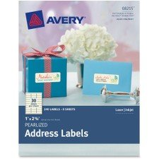 Avery Dennison Pearlized Address Labels, Pack of 240 Label, 0, 1