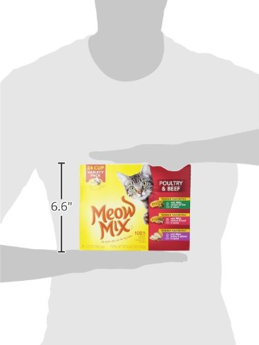Large Product Image of Meow Mix Tender Favorites Poultry and Beef Variety Pack Wet Cat Food, 2.75 oz, 24-Count