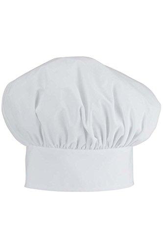 (White Poplin Chef Hat)