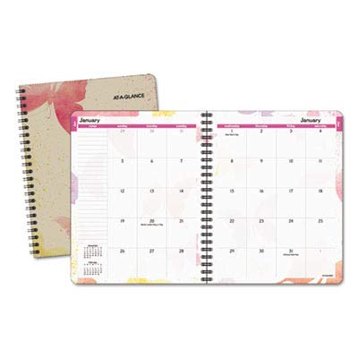 (Day Runner 791800G Watercolors Planner - Monthly - 6.88amp;quot; x 8.75amp;quot; - January Till January - 1 Month Per 2 Page(s) )
