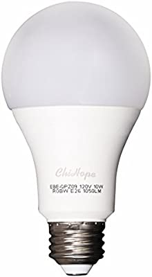 Smart RGBW amarillo y color bombillas LED (se puede afinar, chihope WiFi app-smartphone Controlled LED bombillas, multicolor, intensidad regulable, ...