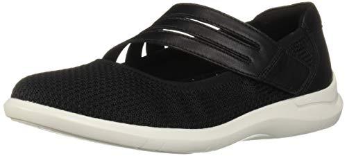 Aravon Women's PC Maryjane Shoe, Black Knit, 9.5 D US
