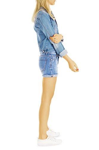 Rugged Bestyledberlin Blue Attillata Pantaloncini Donna Btt6OAq