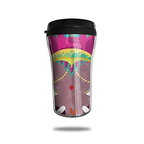 with Lid, Lovely Cartoon Elephants Personalized Custom 250ml Coffee Cup Tea Mug Travel Vacuum Mugs Drink Bottle ()