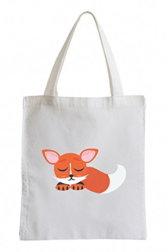 Raxxpurl Sleeping Fox Fun sacchetto di iuta