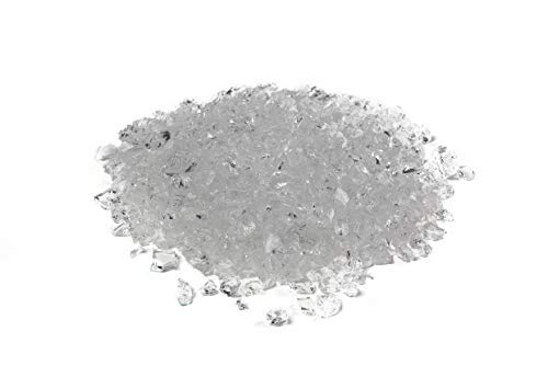 Galaxy Glass Size 1 Clear 5lb - Crushed Glass for Decorations, Crafts, Vase Filler, Terrarium, Sea Glass, Fish Tanks, Garden, Fusing, Crystals