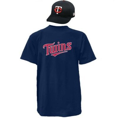 Twins Adult Replica Jersey - Minnesota Twins CAP & ADULT XL JERSEY MLB Licensed Replica Combo Set