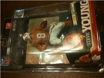 McFarlane Toys NFL Sports Picks Legends Series 6 Action Figure Steve Young (San Francisco 49ers) Tampa Bay Bucaneers Jersey Silver Collector Level Chase by McFarlane Toys