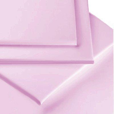 lilas pour 135cm x 190cm Linens Limited Drap plat 2 personnes en percale de polycoton 180 fils