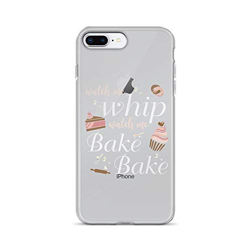 iPhone 7 Plus/8 Plus Pure Clear Case Cases Cover Funny Baking Lover Quote Cupcake -