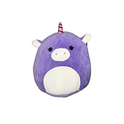 Kellytoy Squishmallow 8 Inch Astrid the Purple Unicorn Super Soft Plush Toy Pillow Pet: Toys & Games