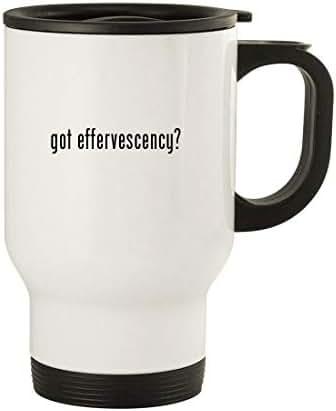 got effervescency? - 14oz Stainless Steel Travel Mug, White
