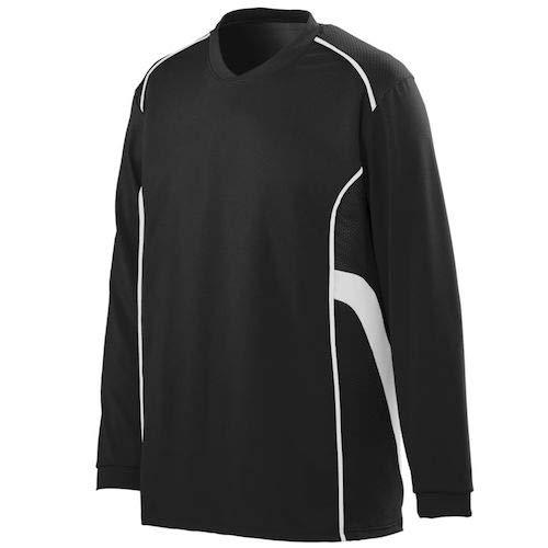 - Augusta Sportswear Winning Streak Long Sleeve Jersey L Black/White