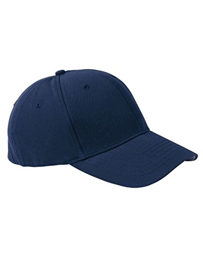 Panel Pro Style Twill Cap (KC Caps Nu-Fit Pro Style Fitted Six Panel Twill Cap, NAVY, Small /)