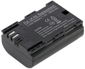 1800 mAh 1x Charger Replacement for Canon LPE6 BattPit trade; New 2x Digital Camera Battery