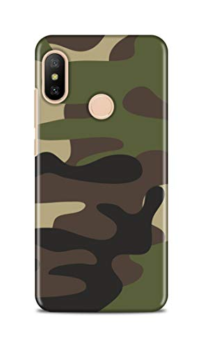Shengshou Mobile Back Cover for Xiaomi Redmi 6 Pro 2018 Military Army Pattern ABC969M37274