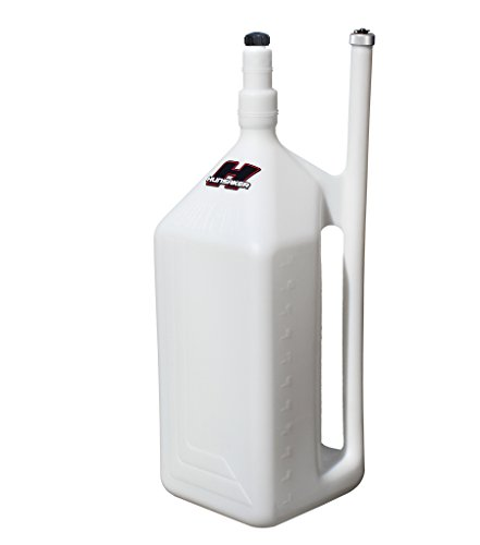 HUNSAKER USA - 11 Gallon QuikFill Fuel Jug, WHITE Dumpcan Racing Gas Can