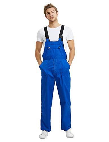 (TOPTIE 8.5 oz Men's Big - Tall Bib Overall with Tool Pockets, Work Cargo Pants-Royal Blue-2XL)