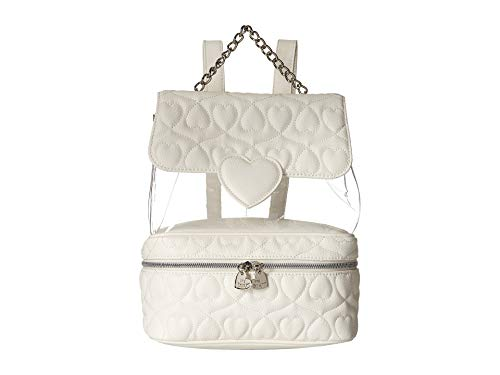Betsey Johnson Clear Backpack White One Size