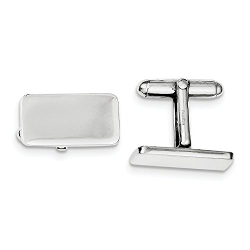 ICE CARATS 925 Sterling Silver Cuff Links Mens Cufflinks Man Link Fine Jewelry Dad Mens Gift Set by ICE CARATS (Image #3)