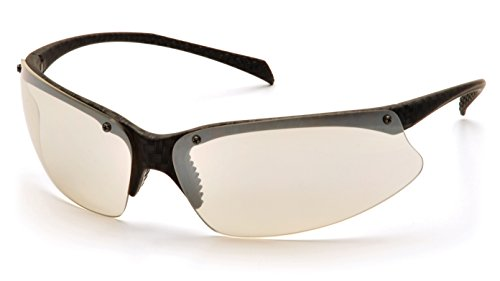 Pyramex SCF6880D PMX5050 Sports Style Safety Glasses, Indoor/Outdoor Mirror Lens, Carbon