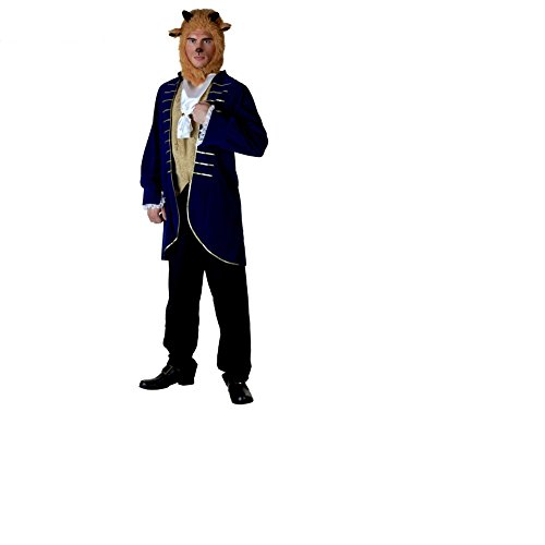 [Mocona Beauty and the beast Costume] (Mens Beast Halloween Costume)