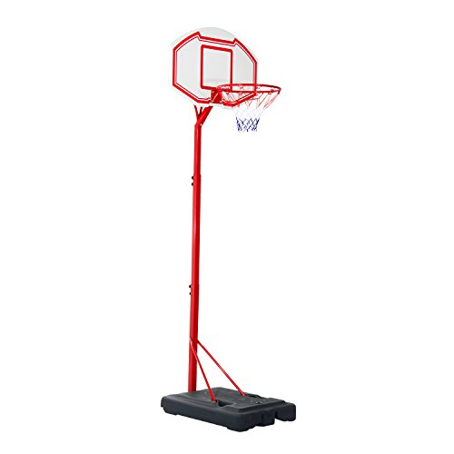 Soozier 10' Height Adjustable Portable Basketball Hoop