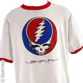 GRATEFUL DEAD T-Shirt - SYF Ringer (White), (Dye Ringer)