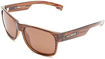 Hobie Dogpatch-292928 Polarized Rectangular Sunglasses,Brown Wood Grain,