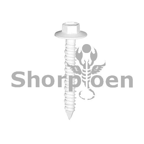 SHORPIOEN Hex Flanged Concrete Screw White 1/4 x 1 3/4 BC-1428CNHFW-20W (Box of 20 pcs)