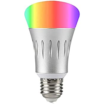 smart light bulb works with alexa dimmable multicolored color changing lights smartphone free. Black Bedroom Furniture Sets. Home Design Ideas