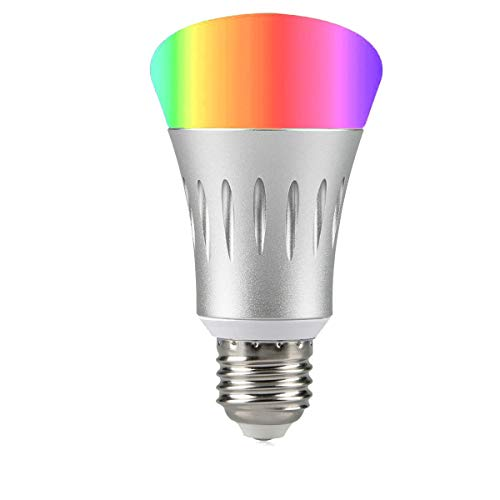 Smart Light Bulb,Works with Alexa,Dimmable Multicolored Color Changing Lights,Smartphone Free APP Control,7W New Version (White)