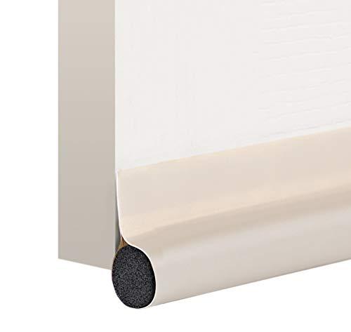 deeToolMan Door Draft Stopper 36 : One Sided Door Insulator with Hook and Loop Self Adhesive Tape Seal Fits To Bottom Of Door/ Door Weather Stripping(Light beige)