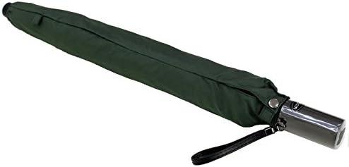 オンブレッロジウ 紳士 大判 軽量 65cm 8本骨 2段折りたたみ傘 SM-0562 ダーク・グリーン