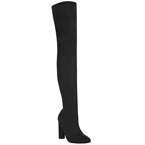 Womens Size Over Thirsty The Thigh High Stretch Heels Lycra Lycra Black Fashion Knee Boots High 7xw5fq00U