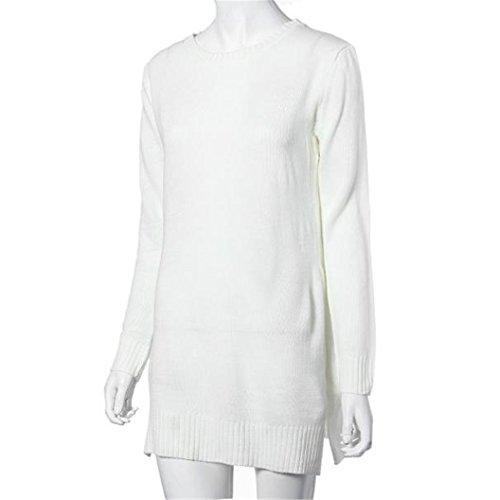 Sunnywill Mode Langarm Pullover Pullover Strickjacke Gestrickt für Mädchen Damen