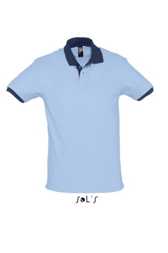 SOLS Polo Prince, Sky Blue / French Navy, XS