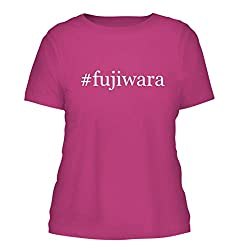 Fujiwara A Nice Hashtag Misses Cut Womens Short Sleeve T Shirt Fuchsia Large