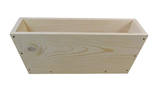 Natural Pine Planter Box with Slanted Ends 22 inches Long x 6.75 inches Tall x 8 inches Wide Plants not Included.
