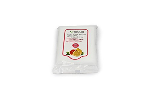 PÜRDOUX CPAP Mask Wipes with Grapefruit Lemon scent (Box of total 120 wet wipes in 12 resealable sachets, 10 wipes per sachet) by Purdoux (Image #4)
