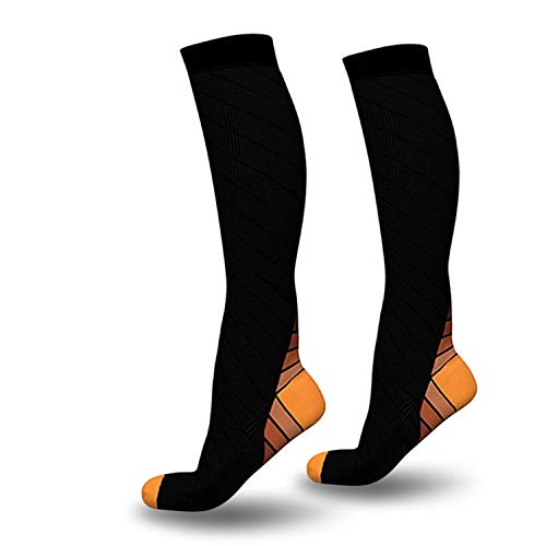 Compression Knee High Socks for Anti-Fatigue Socks for Leg Stretch Support for Men Women,L XL
