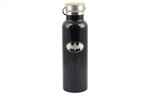 (Batman Vacuum Stainless Steel Insulated Water Bottle (20 OZ). Double Walled Construction. Zero Condensation!)