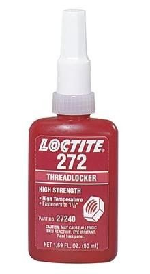 Loctite 272 Threadlocker - Red Liquid 250 ml Bottle - Shear Strength 2900 psi, Tensile Strength 200 psi [PRICE is per BOTTLE] by Loctite