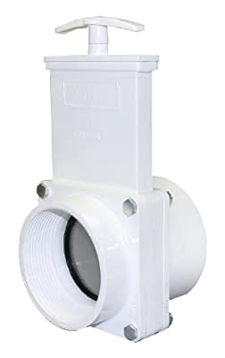 "Valterra 4309 PVC Gate Valve, White, 3"" FPT x Slip from Valterra Products"