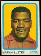 1963 Topps CFL (Football) Card# 42 Marv Luster of the Montreal Alouettes Ex Condition
