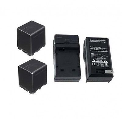 TWO 2 Batteries + Charger for Panasonic HDC-SD60P, Panasonic HDC-SD60PC, Panasonic HDC-SD90, Panasonic HDC-SD90K by photo High Quality